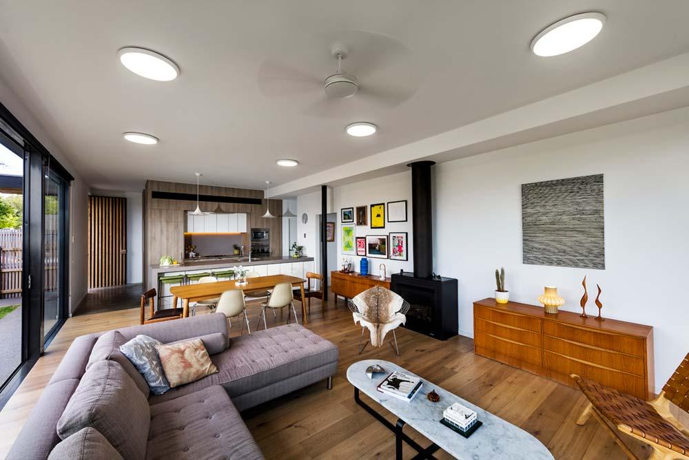 modern family house living room design ja - St Kilda East Townhouses