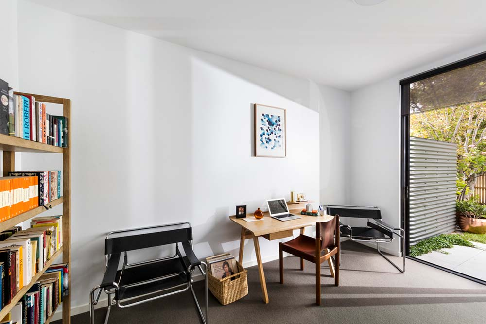 modern family house office design ja - St Kilda East Townhouses