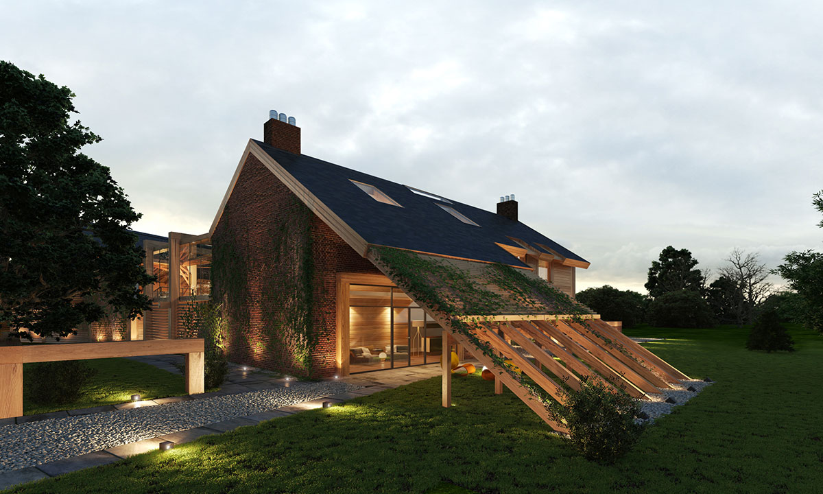 Contemporary Farm House Barn Houses