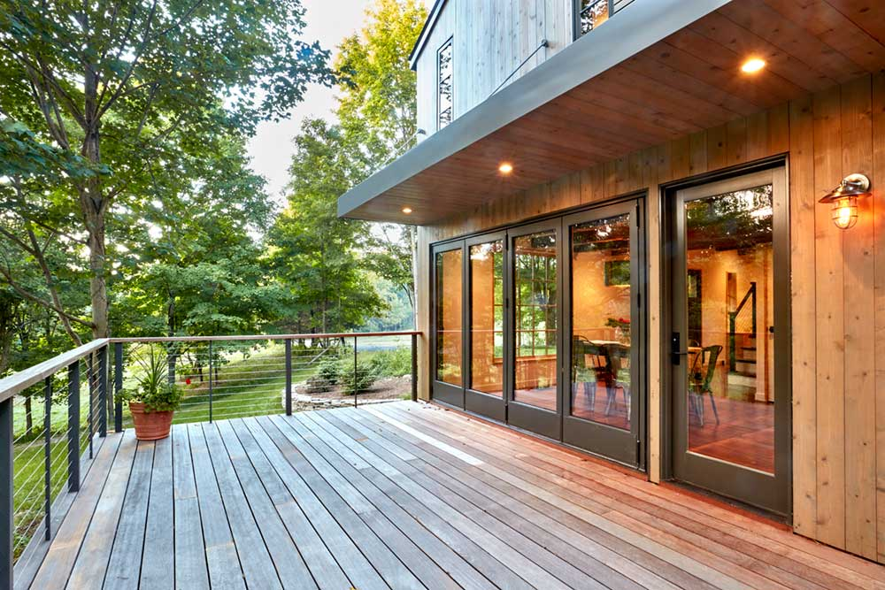 modern farmhouse deck design foz - Fallkill Farm