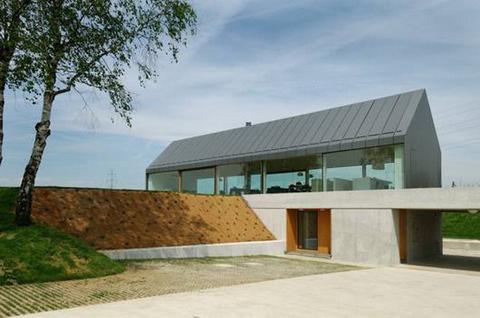 House Hb A Built Border Between Rural And Urban Modern