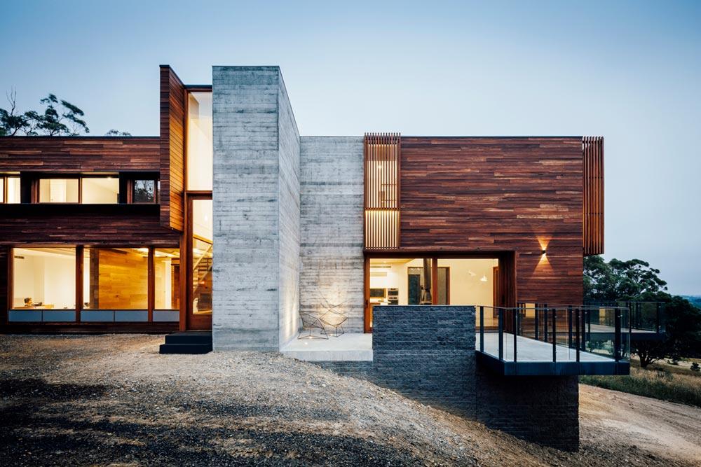 modern hillside family home - Invermay House