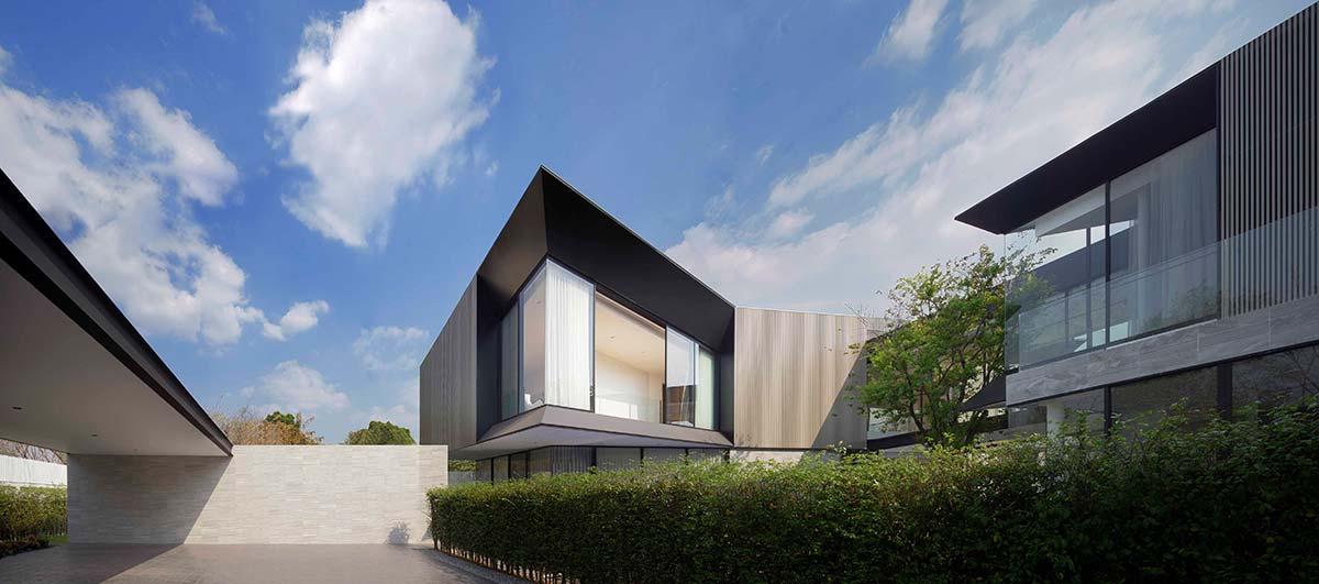 modern home 3 families garage aad - Aluminium House
