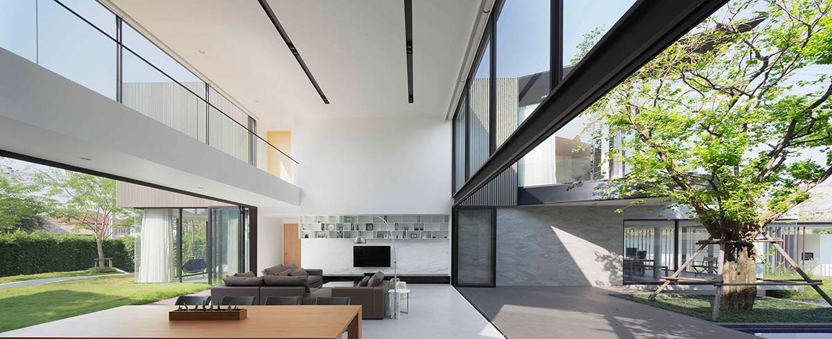 modern home 3 families living aad - Aluminium House