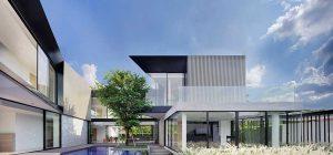 modern home 3 families pool aad 300x140 - Aluminium House