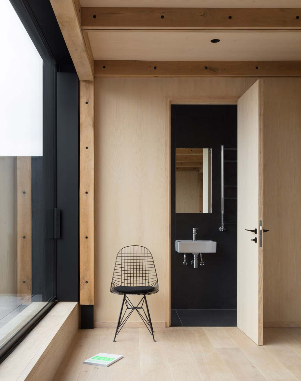 modern home black bathroom - London Canal-Side Home Conversion