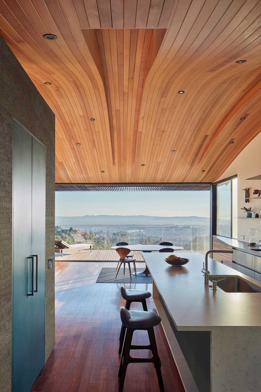 Curved roof design with amazing views