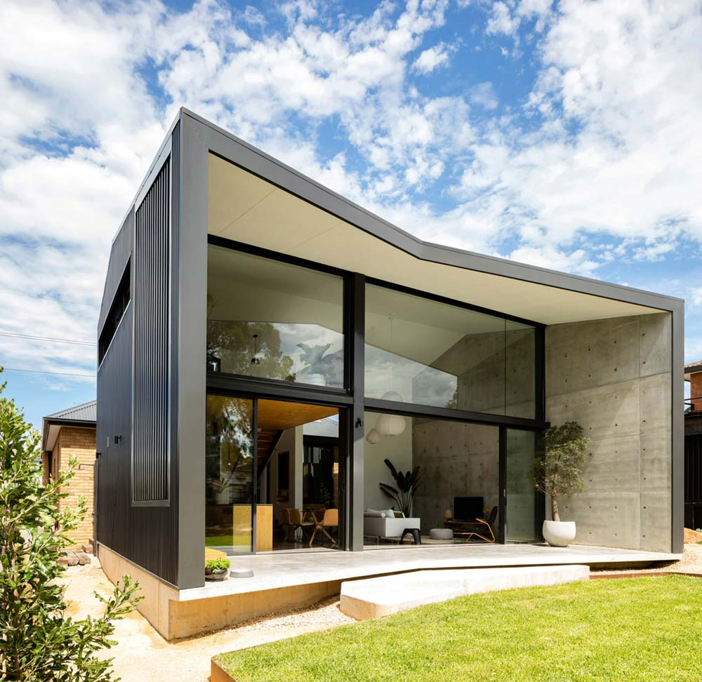 modern home extension design back cp - Binary House