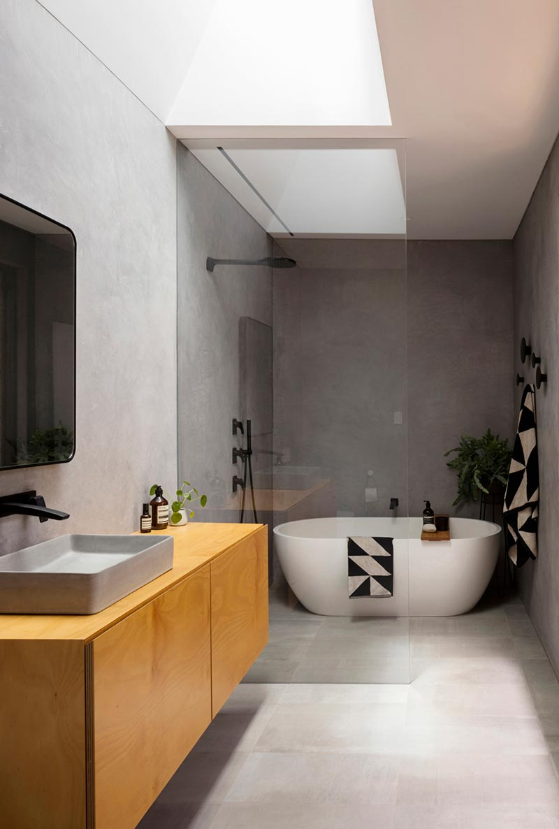 modern home extension design bathroom cp - Binary House