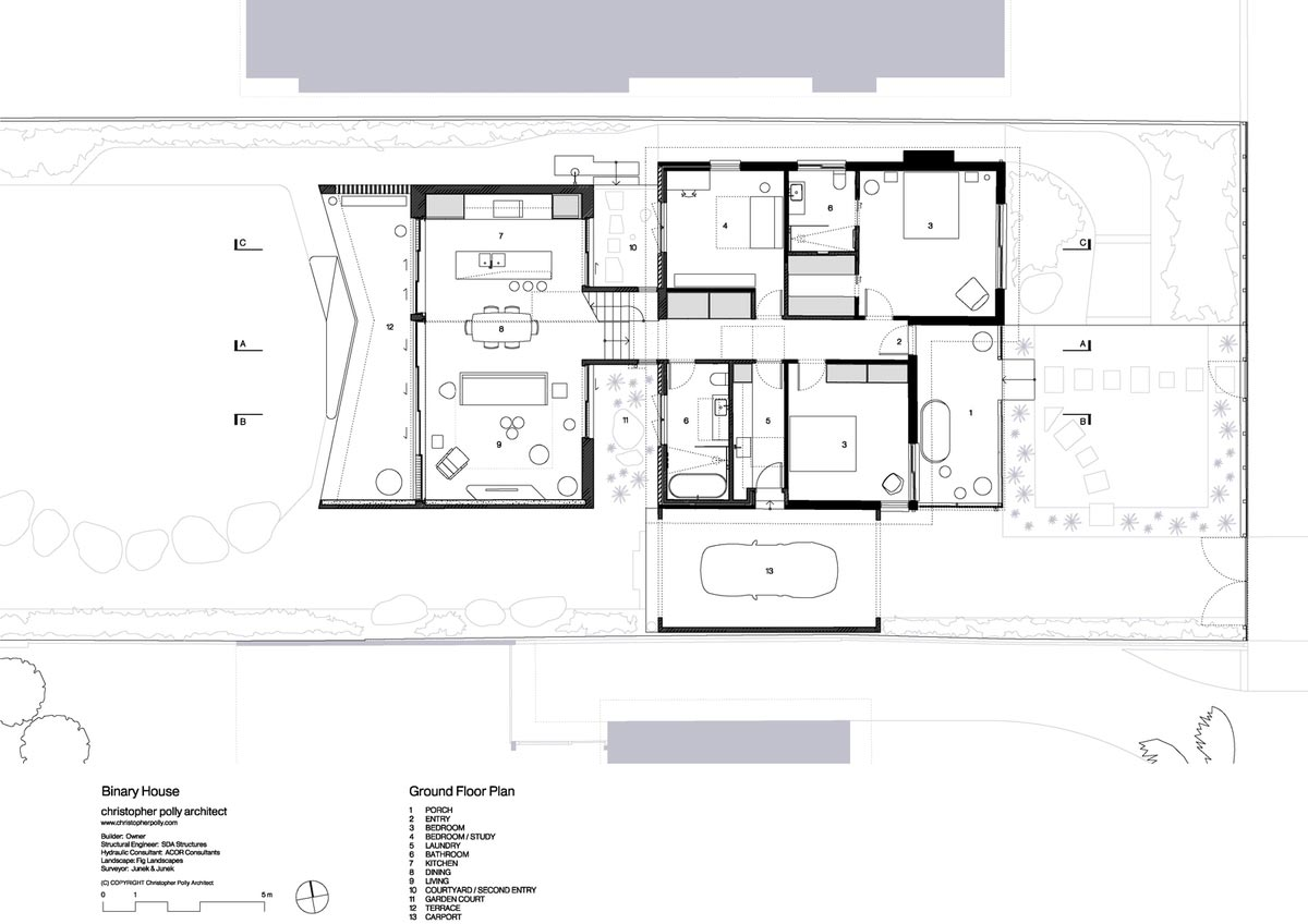 modern home extension design plan cp - Binary House