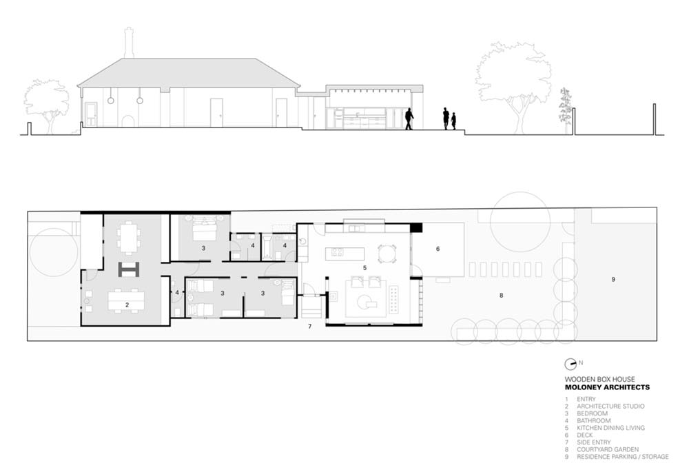 Modern home extension plan