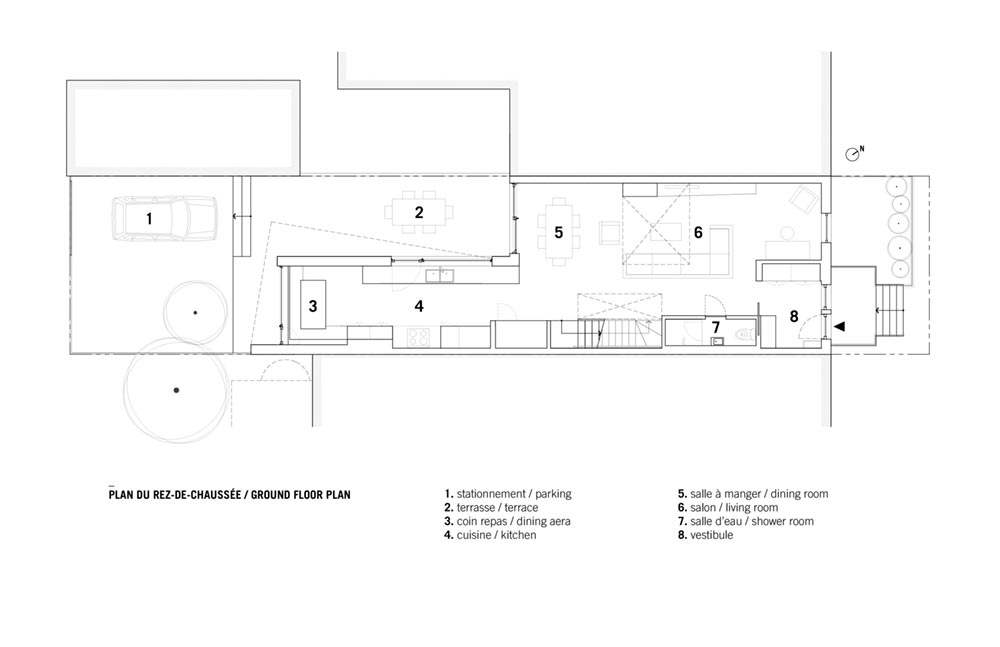 modern home extension plan sar1 - Saint-Andre Residence