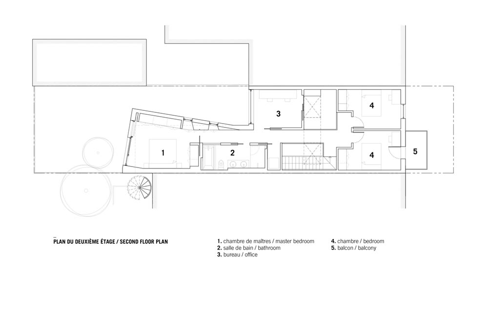modern home extension plan sar2 - Saint-Andre Residence