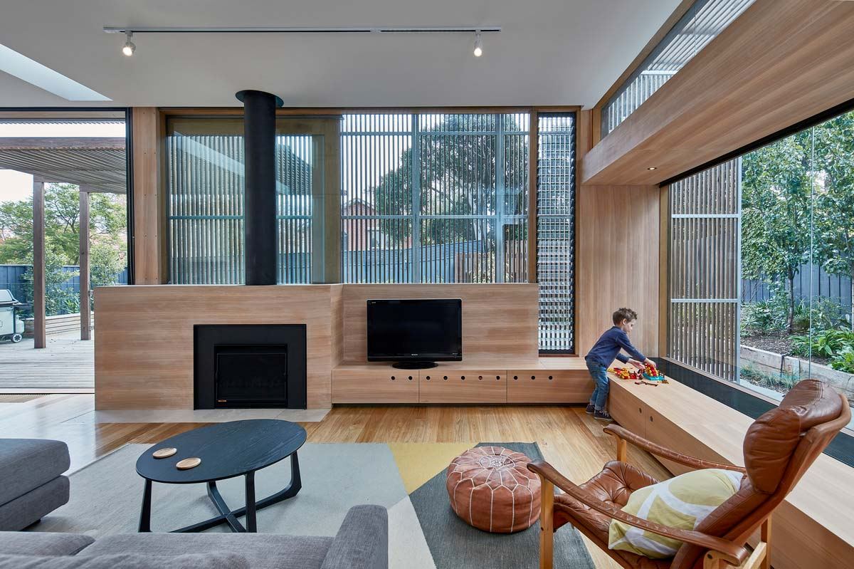 modern home extension screen living - Screen House