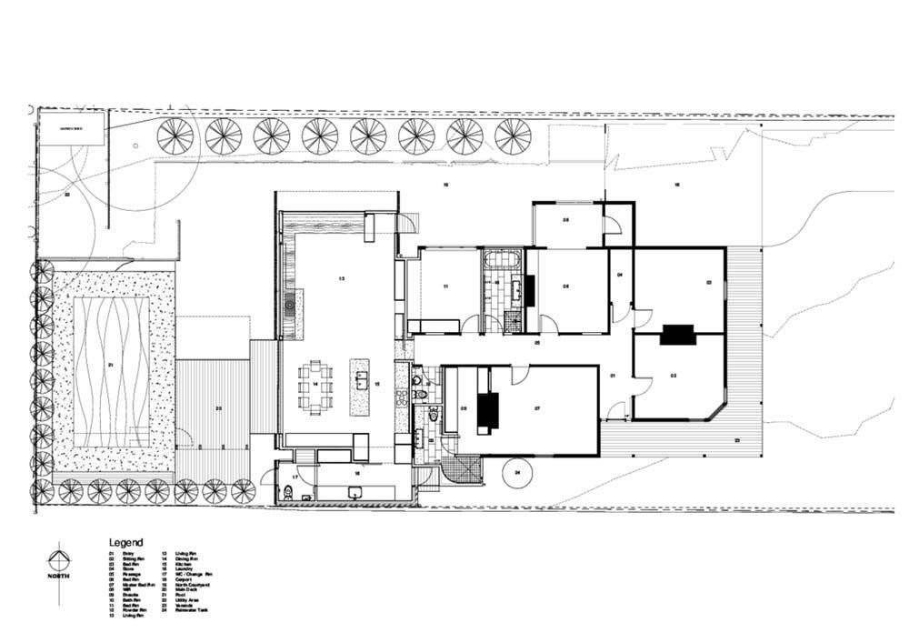 modern home extension screen plan - Screen House