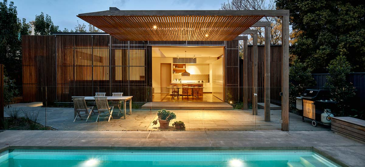 modern home extension screen pool - Screen House