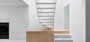 modern house circular staircase design 300x140 - De la Roche Residence