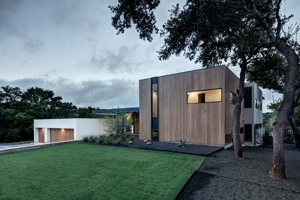modern house courtyard mf2 - [Bracketed Space] House