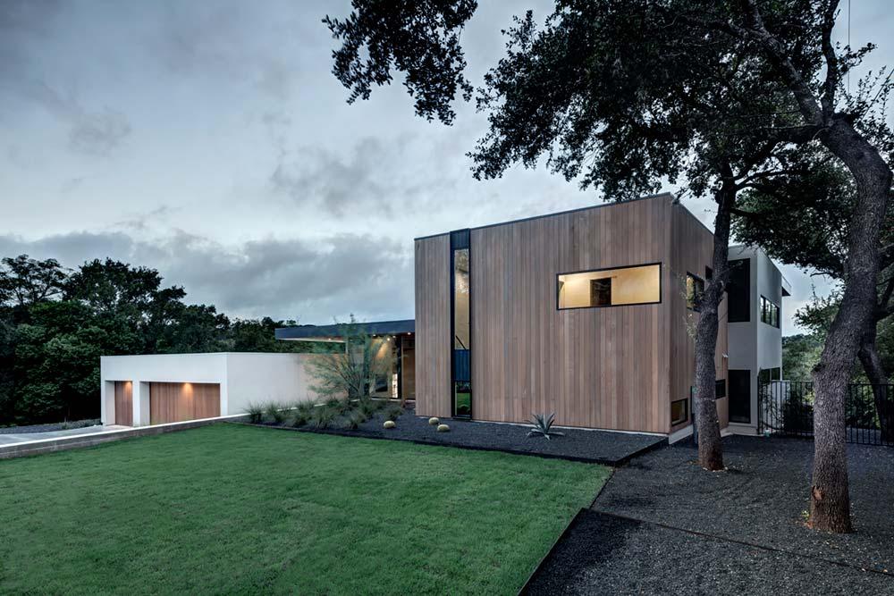 modern house courtyard mf2 - [Bracketed Space] House
