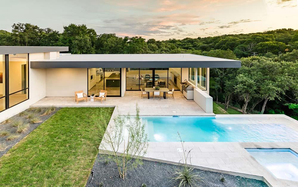 modern house courtyard mf9 - [Bracketed Space] House