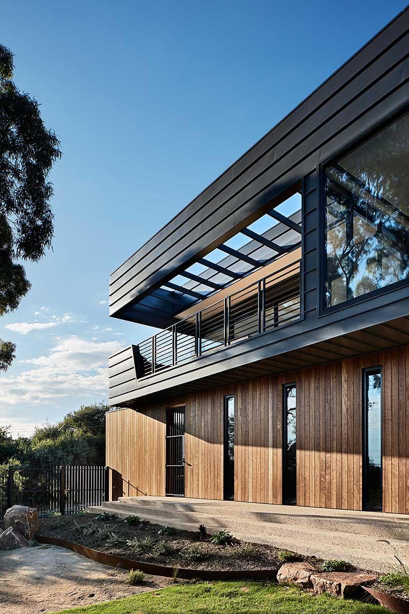 modern house design cladding sb - Treetops House