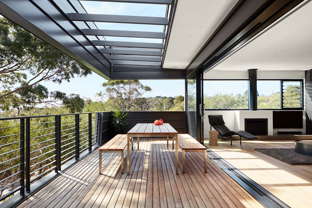 modern house design terrace sb - Treetops House