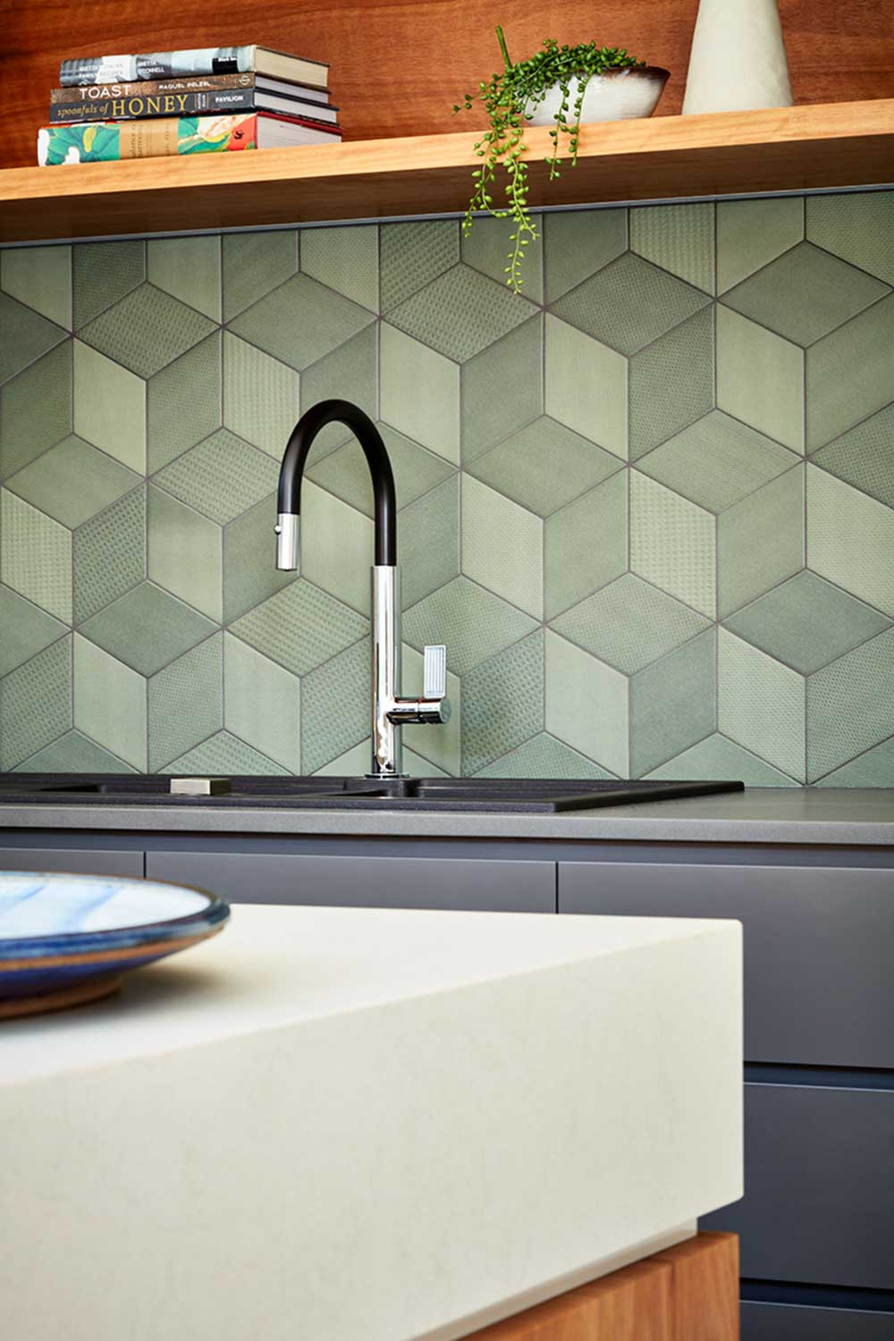 modern house kitchen tile ba - Grasmere