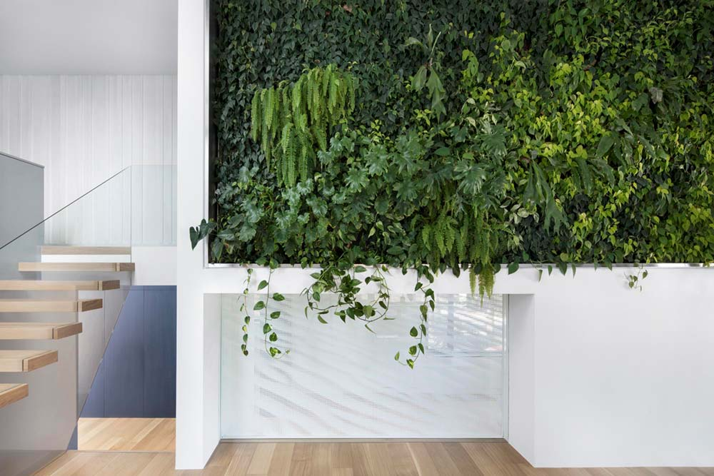 modern house living wall - Courcelette Residence