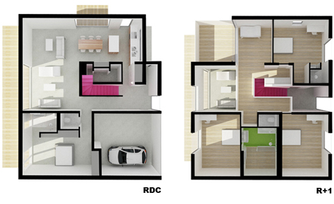 Maison 2g from head to toe modern architecture for Zeb pilot house floor plan