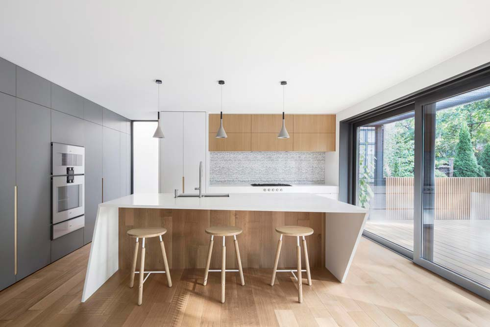modern house renovation kitchen - Courcelette Residence