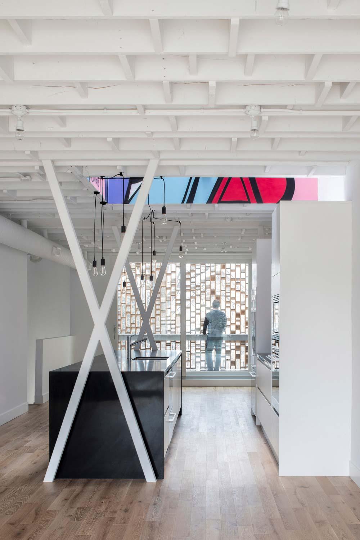 Modern infill house kitchen design