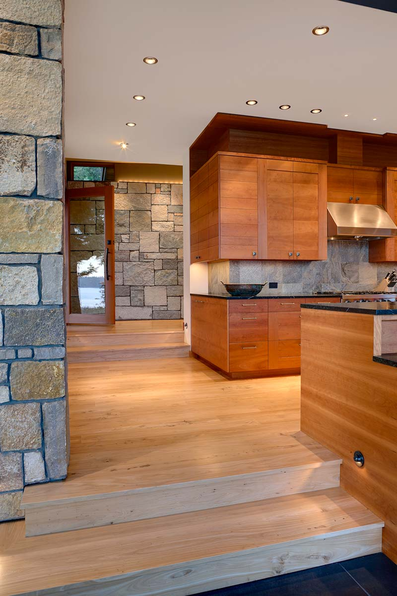 modern island cabin design kitchen - North Bay Residence