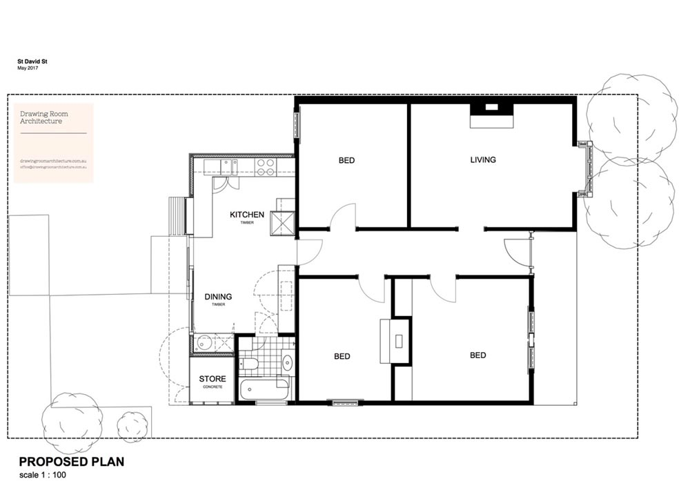 modern kitchen bathroom extension plan - St David Residence Extension