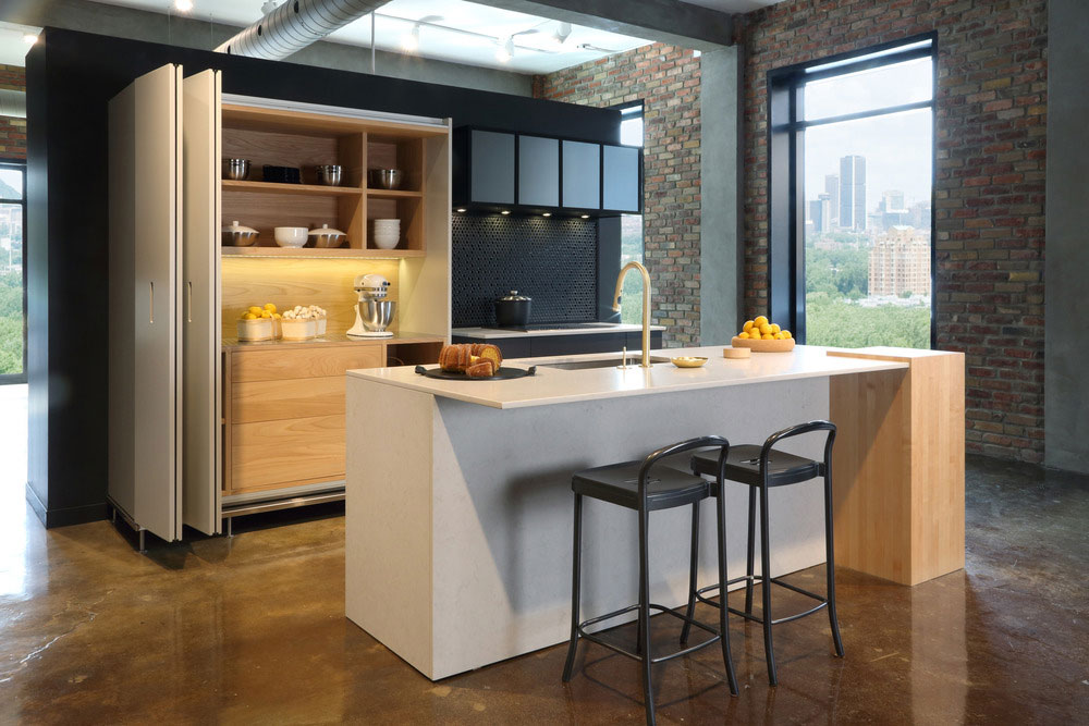 Steam kitchen kitchen design for Kitchen tall unit design