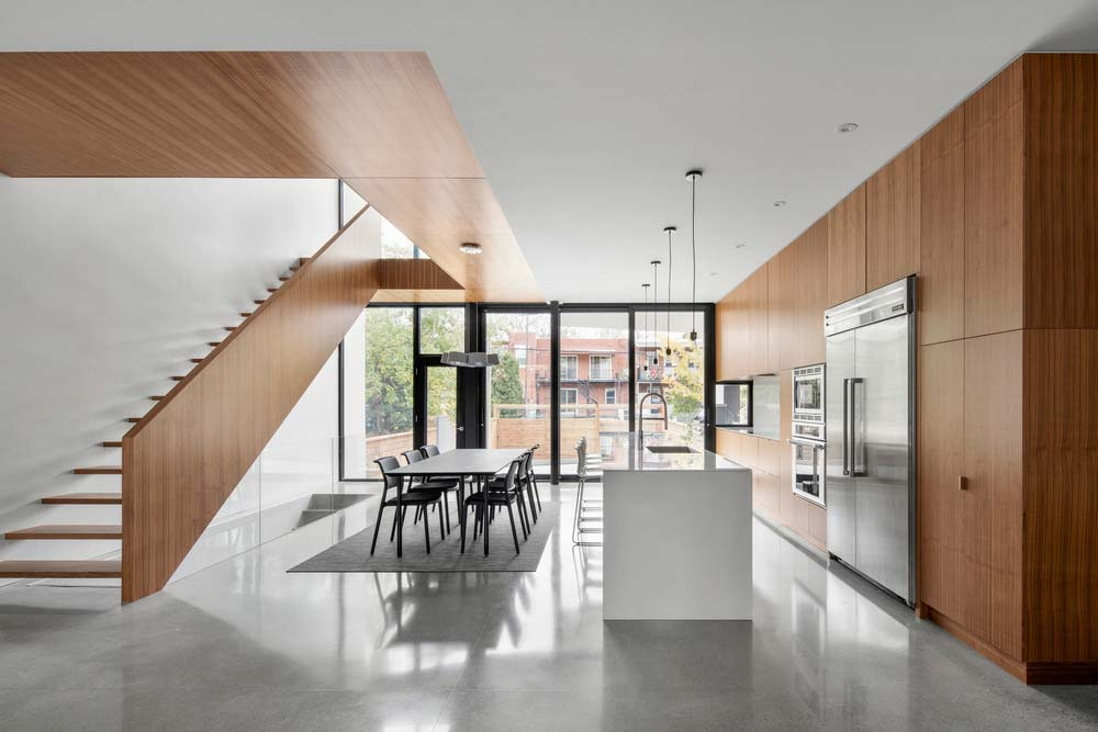 Modern kitchen and dining room design