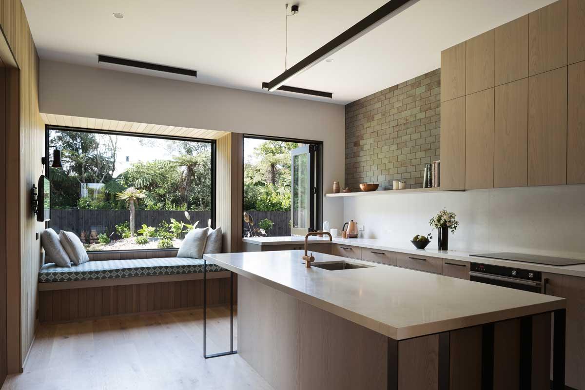 modern kitchen window seat - House Under Eaves