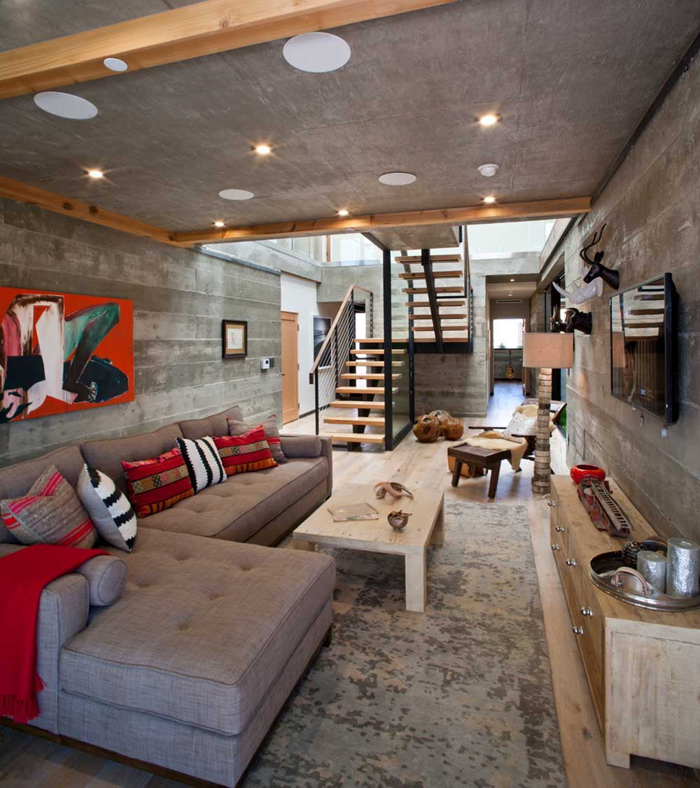 modern la home basement design mo - Bellino Residence