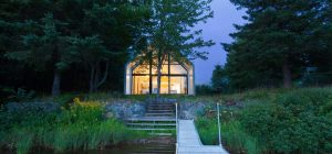 modern lake cottage design 300x140 - Window on the Lake