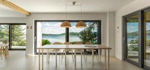 modern lake cottage dining design fxs 300x140 - Nordic Architecture and Sleek Interior Design