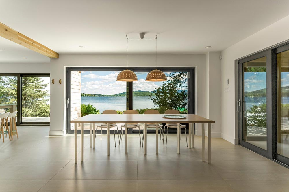 Modern Lake Cottage With Nordic-Inspired Design In Saint