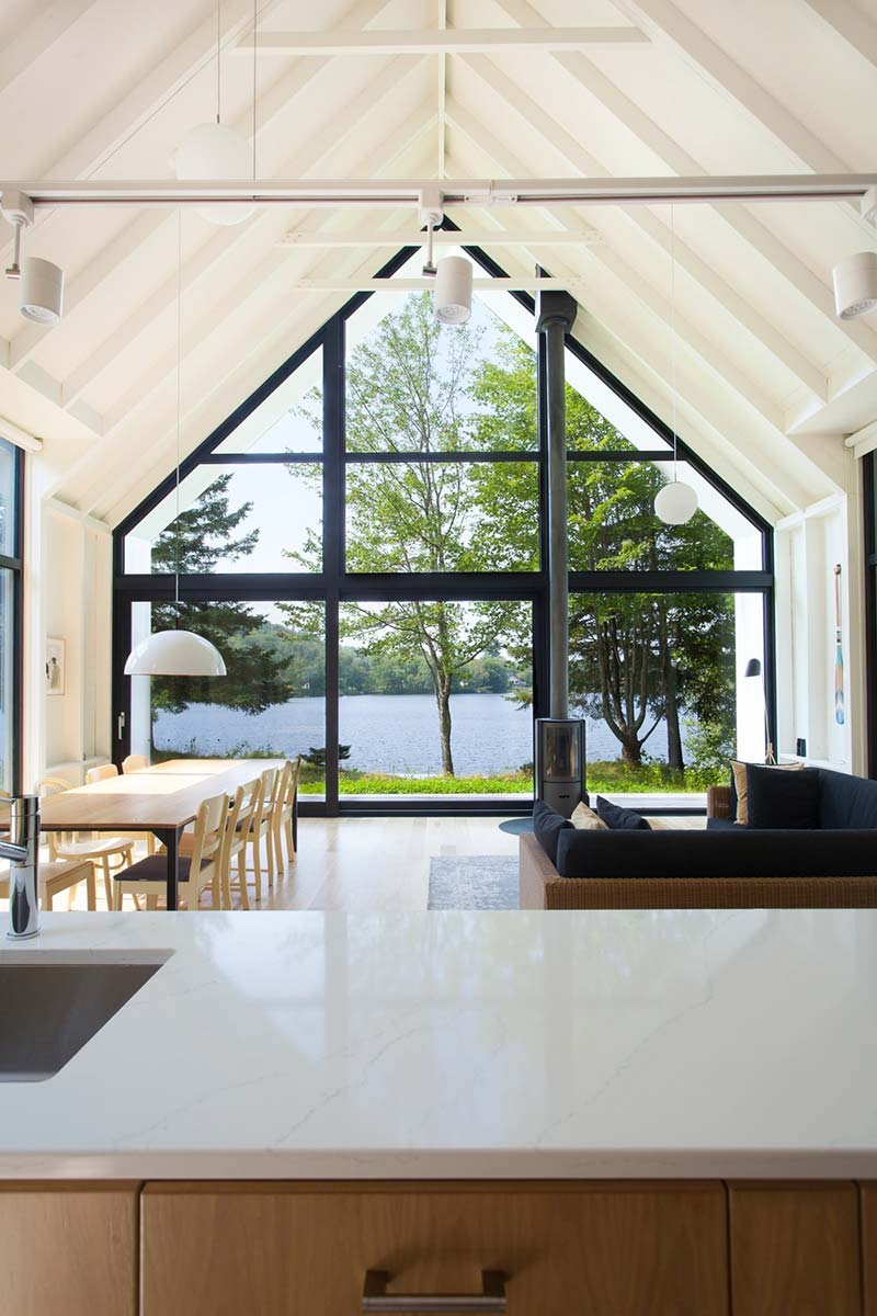modern lake cottage window - Window on the Lake