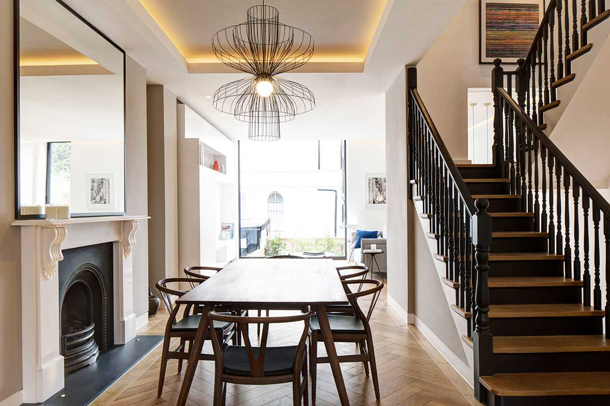 modern living period home dining dp - Englefield Road Residence