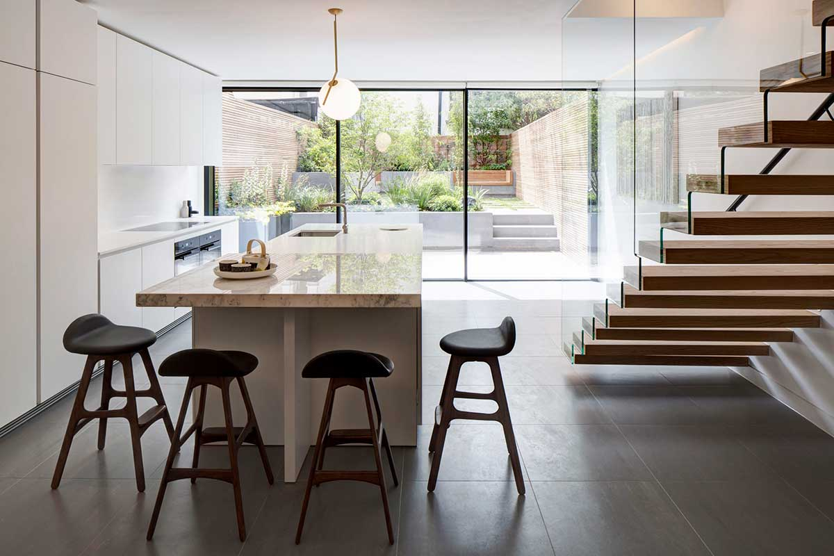 modern living period home kitchen dp - Englefield Road Residence