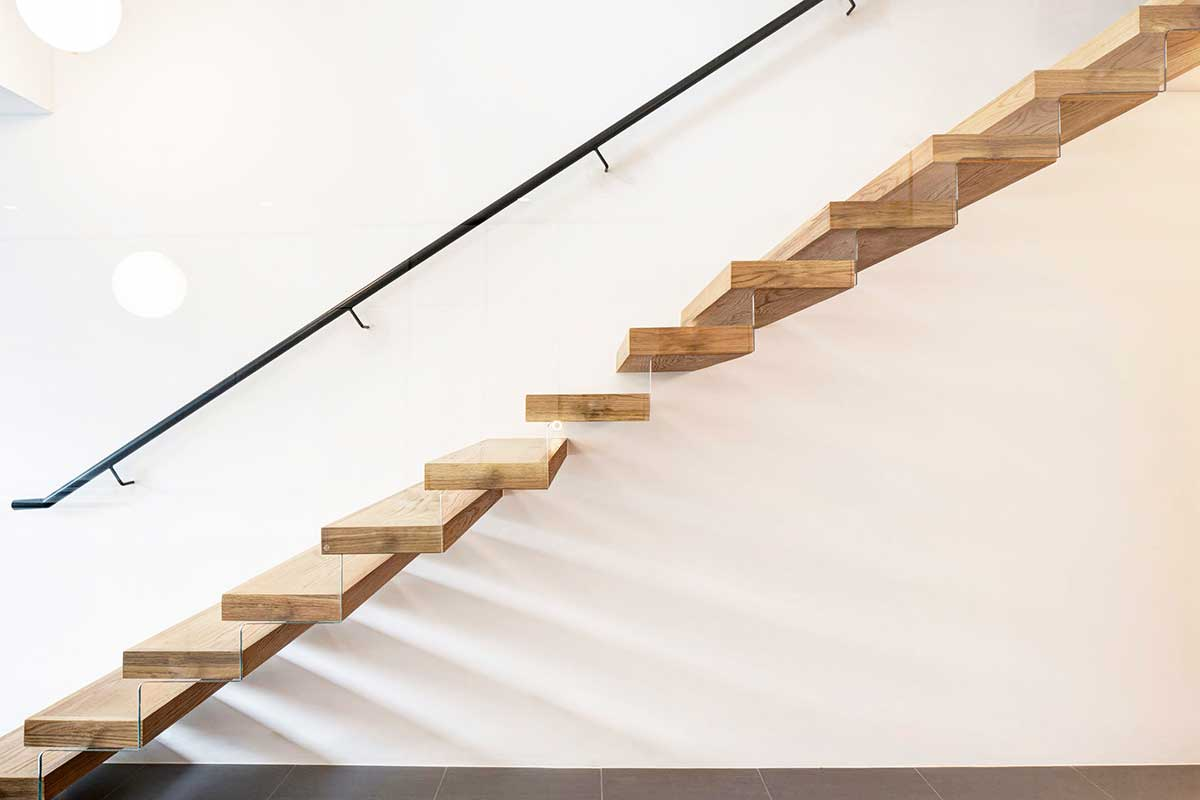 modern living period home stairs dp - Englefield Road Residence