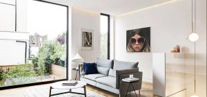 modern living room period home dp 300x140 - Englefield Road Residence