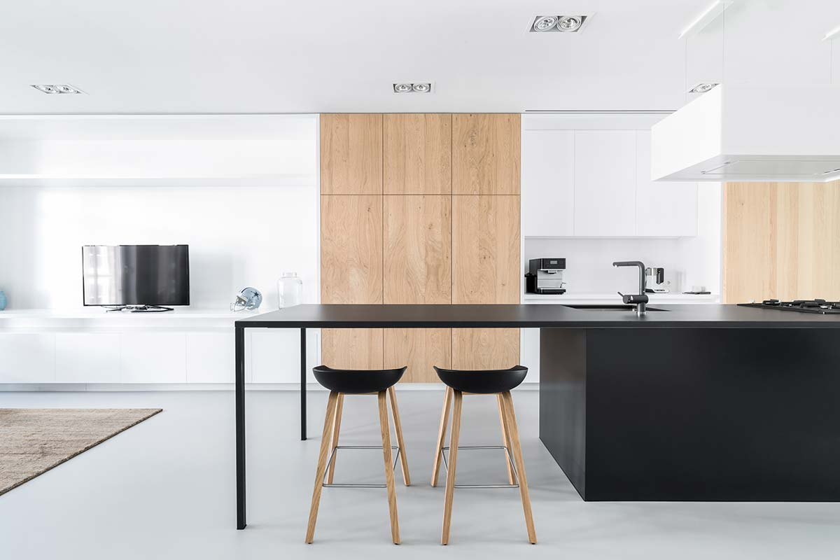 modern loft apartment kitchen island i29 - Loft Apartment In Amsterdam