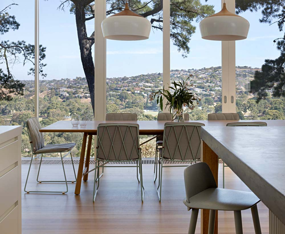 modern mid century dining room - Newtown House
