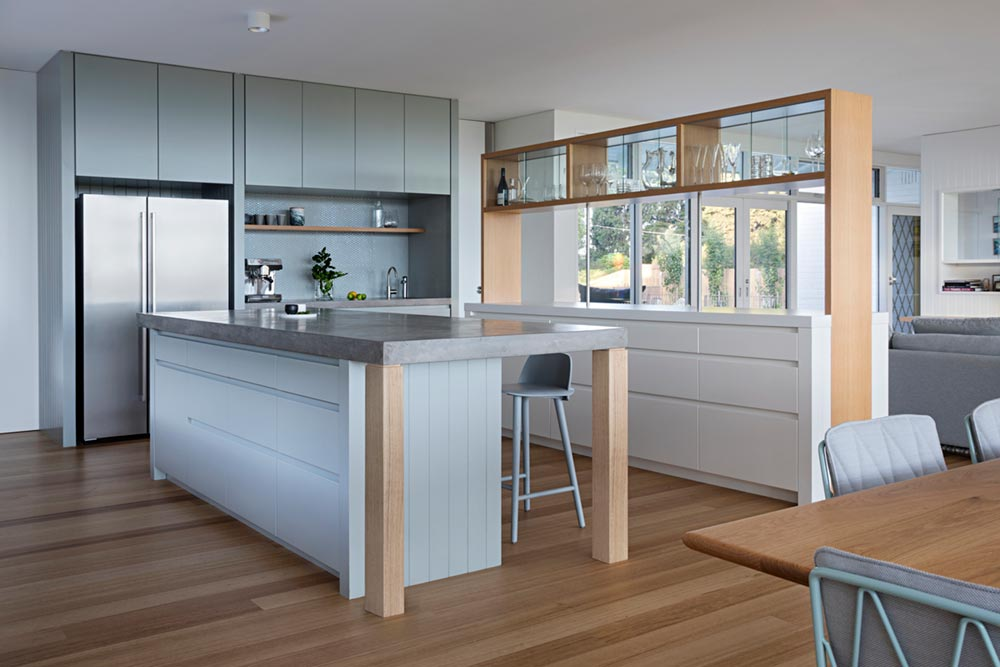 modern mid century kitchen design - Newtown House