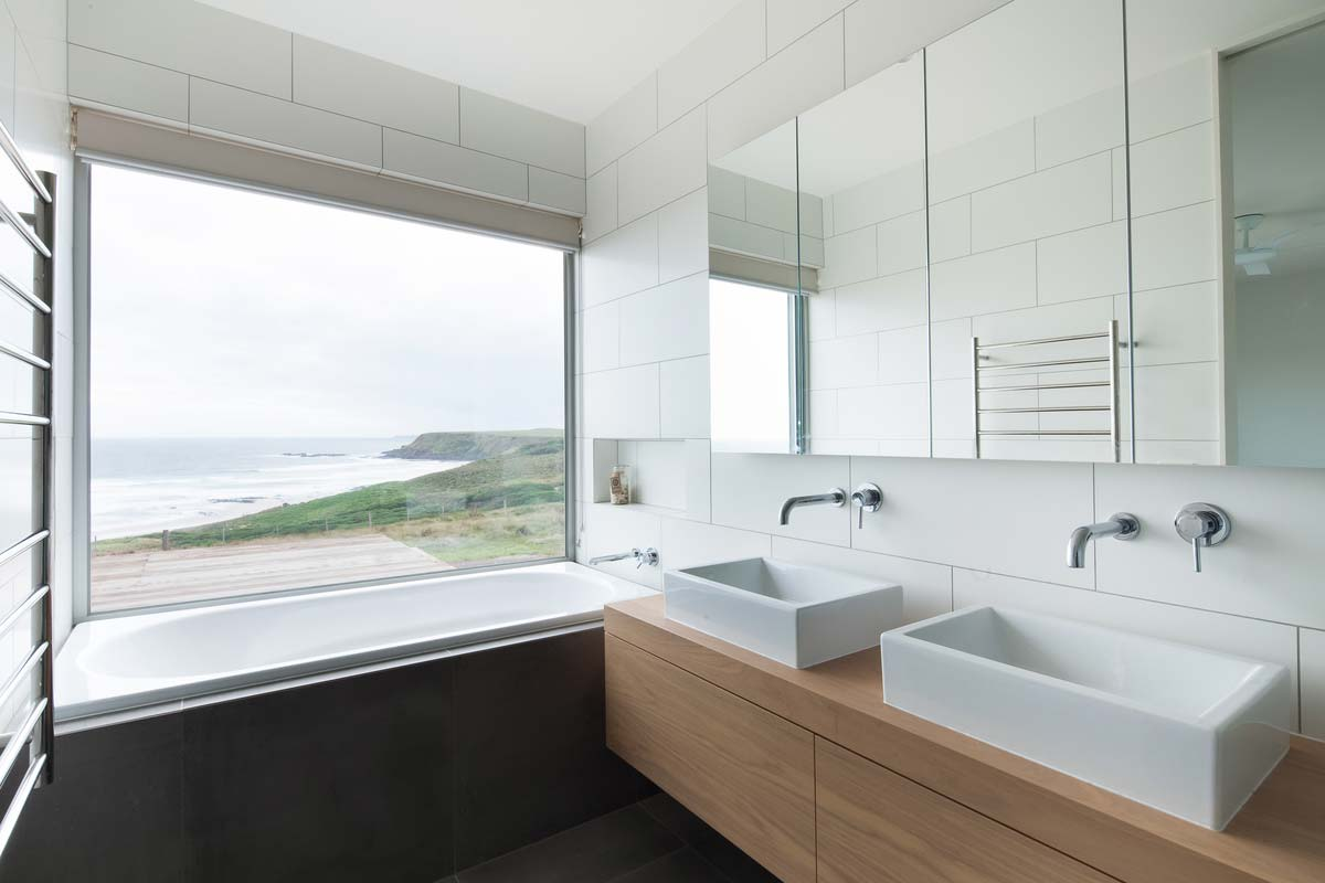 modern modular home bathroom ms - Phillip Island Modular Home