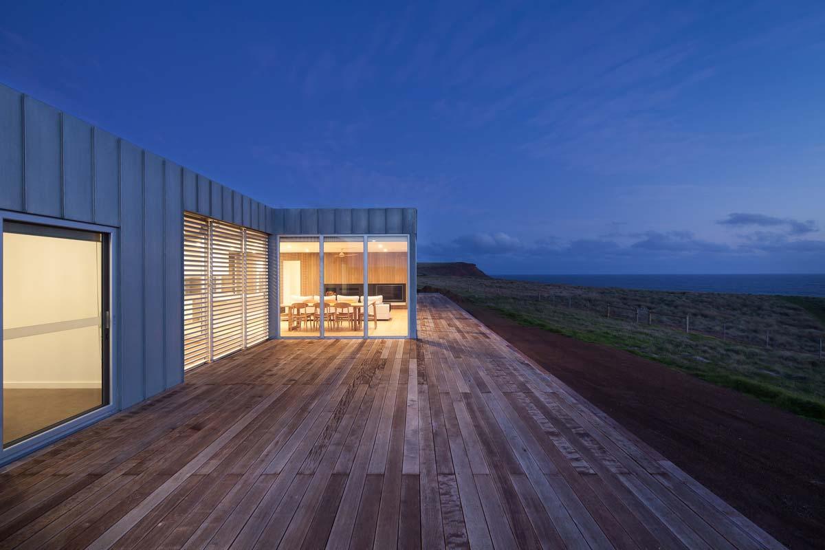 modern modular home deck ms - Phillip Island Modular Home
